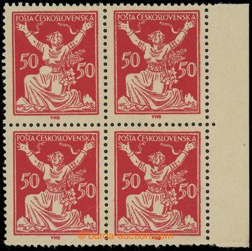 230033 -  Pof.155A DV, 50h červená, krajový 4-blok s DV 1 - vají�