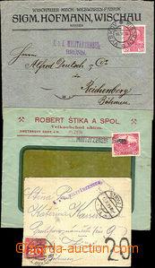 23015 - 1915 - 16 CENZURA  sestava 3ks dopisů s cenzurními razítk