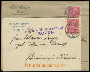 23016 - 1915 CENSORSHIP  comp. 3 pcs of letters with censored postma