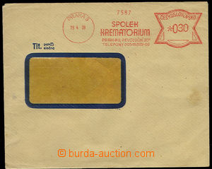 23087 - 1939 Association Krematorium Prague - forerunner frankotype