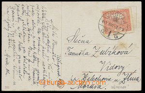 23148 - 1919 postcard with 15h hradčany Pof.7A  with very nice Hung