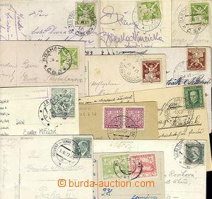 23149 - 1919 - 38 sestava 12ks pohlednic s razítky VLP, mj. Jasina