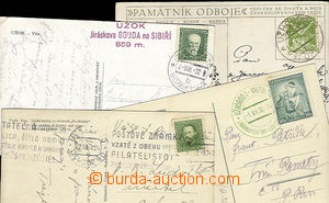 23150 - 1922 - 36 comp. 4 pcs of Ppc with postmarks as: Volosianka ,