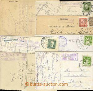 23152 - 1924 - 36 7ks celistvostí s razítky poštoven: SV. JAN POD