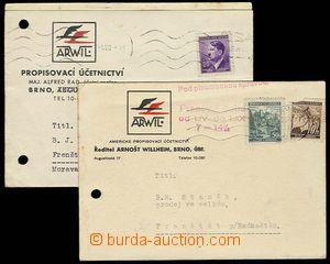23158 - 1941 reklamní lístek firmy Arwil / Brno s doplňkovým raz