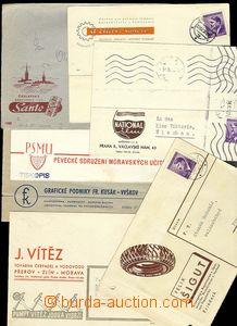 23167 - 1942 - 43 7ks celistvostí s reklamními přítisky, mj. F.�
