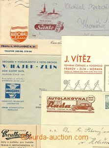 23168 - 1940 - 44 6ks celistvostí s firemními přítisky, mj. Auto