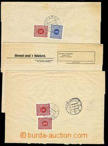 23175 - 1939 sestava 4ks soudních obsílek s poplatky uhrazenými p