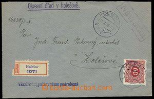23176 - 1939 úřední  R-dopis zaslaný v místě, kde poplatek byl