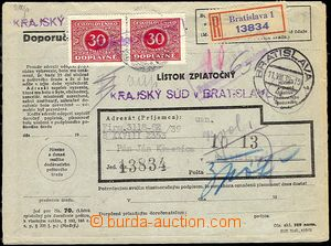 23179 - 1939 Postage due stmp - forerunner, returned R court letter