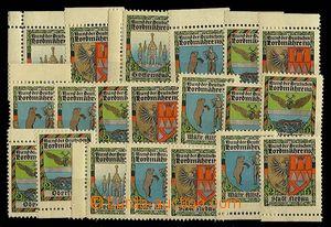 23194 - 1915 AUSTRIA  20  pcs  Surtax varnished labels German club/a