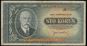 23209 - 1945 Czechoslovakia   100 Koruna, 16.5.45, set JK, quality 4