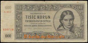 23210 - 1945 Czechoslovakia  1000 Koruna, 16.5.45, set C, quality 3-