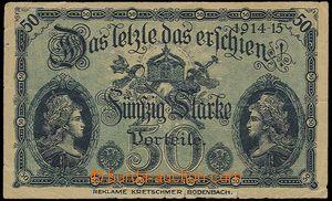 23212 - 1914 bill from restaurant K.Stopfer, Marienbad on reverse ad
