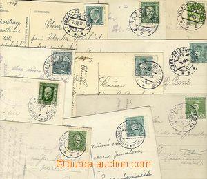 23220 - 1924 - 37 10ks s razítky VLP, mj. Břeclav - Bohumín, Koje