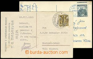 23266 - 1925 - 38 2  pcs Us Ppc with exhibition postmarks : Jindřic