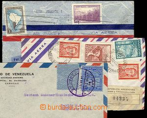 23269 - 1936 - 38 2 + 1 letter addressed to to Europe, 1x as Registe