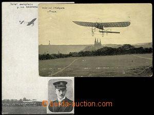 23274 - 1910 - 11 2 ks Vzlet aeroplánu ing. Kašpara, 1x s podobizn