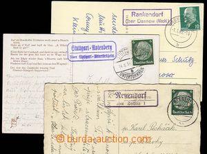 23280 - 1939 - 62 GERMANY  3 pcs of Ppc with postal agency pmk Reuen