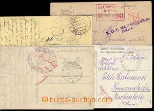23281 - 1914 - 17 4ks lístků a pohlednic s razítky: KuK Epidemien
