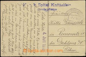 23284 - 1918 KuK Spital Knittelfeld modré řádkové razítko dopln