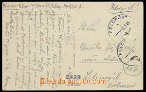 23313 - 1945 pohlednice zaslaná z Itálie, odesílatel FP 47953 A,