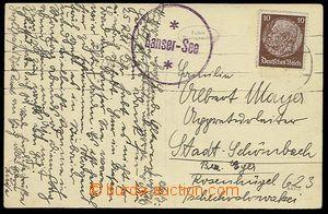 23317 - 1938 NĚMECKO  pohlednice s kruhovým raz. poštovny Lanser