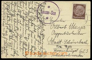 23317 - 1938 GERMANY  postcard with round postal agency pmk Lanser -