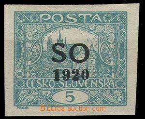 23328 -  Hradčany 5h blue-green imperforate, Pof.SO3 T II., very li
