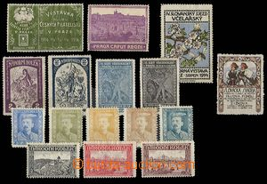 23332 - 1913 - 20 AUSTRIA  selection of 16 pcs of advertising labels