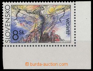 23383 - 1995 Zsf.65, Peace and freedom, double impression blue color