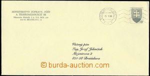 23406 - 1995 CSO1, official envelope, MC Bratislava 9.1.96. cat. 200