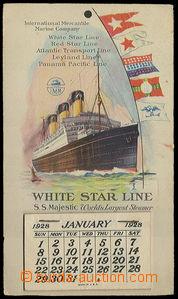23437 - 1928 USA - ship trhací calendar White Star Line with color