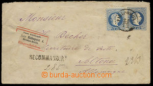 23440 - 1882 Levant  postal stationery cover with stamp. 10So, Mi.U1