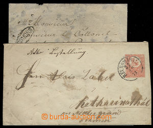 23448 - 1840 - 71 postal stationery cover 5 Kreuzer, Mi.U2 with CDS
