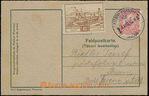23452 - 1918 FP card with additional-printing issued to/at day sappe