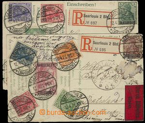 23463 - 1921 SAARLAND  2 pcs of Ppc sent to Czechoslovakia, 1x as Re