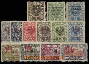 23527 - 1921 Local issue Salzburg overprint on 3 values, Tyrol red O