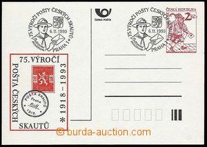 23534 - 1993 přítisk Pošta skautů na CDV2, Pof.1993/27, neprošl