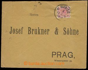 23589 - 1896 response envelope with 5 Kreuzer Franz Joseph with perf