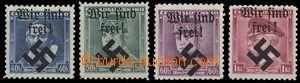 23592 - 1939 přetisk Moravská Ostrava , Mi.6-9. Kat. 80€