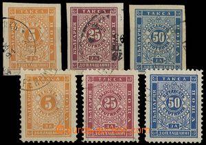23595 - 1885 - 87 Porto Mi.4-6, 7-9. Kat. 112€