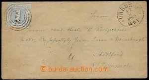 23601 - 1862 dopis vyfr. zn. Mi.15, číslicové raz. 276 + DR Ohrdr