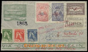 23602 - 1932 ARGENTINA  Reg letter to Czechoslovakia, with with addi