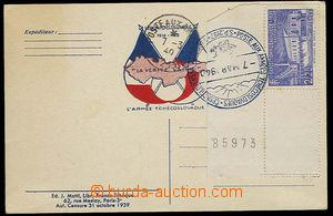 23608 - 1940 FRANCE  neprošlý lístek s přítiskem L Armee Tchéc