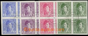 23618 - 1913 blocks of four newspaper Mi.85 - 88, c.v.. 40€