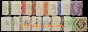 23621 - 1937 Mi.198-211 with L margin and plate mark. cat. 50€