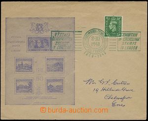 23628 - 1943 Us envelope with additional-printing London miniature s