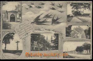 23635 - 1915 Maria Lanzendorf - 6-okénková koláž s vlaštovkami,