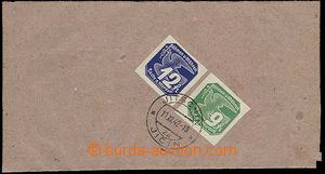 23641 - 1942 whole newspaper wrapper with franking after/behind 4 co